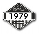 VIntage Edition 1979 Classic Retro Cafe Racer Design External Vinyl Car Motorcyle Sticker 85x70mm